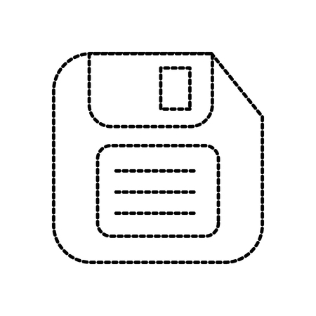 ディスクレット保存バックアップ技術データシンボルベクトルイラスト  イラスト・ベクター素材
