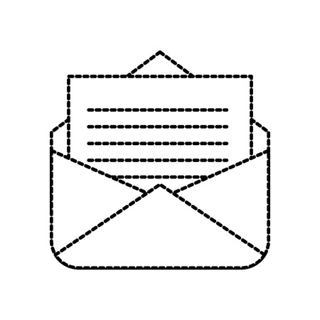 open e-mail envelop brief informatie pictogram vectorillustratie Stock Illustratie