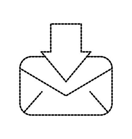 download message email information letter vector illustration