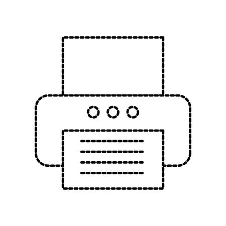 Drucker Büro Kopierpapier Gerät Technologie Vektor-Illustration Standard-Bild - 86318942