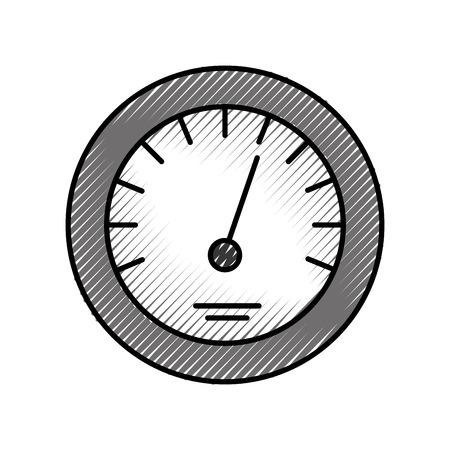タイマーアイコンスケールインジケータ速い成長速度ベクトルイラスト