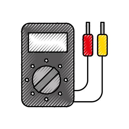 車のバッテリーテスターアプライアンスは、パワーベクトルイラストを測定します  イラスト・ベクター素材
