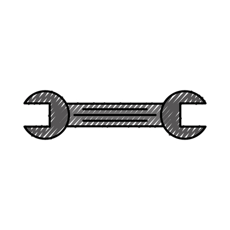 tool wrench repair mechanic equipment icon vector illustration