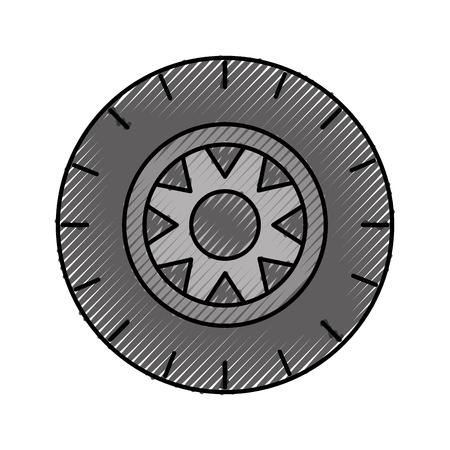 자동차 바퀴 서비스 개념 차량 유지 보수 도로 벡터 일러스트 레이션