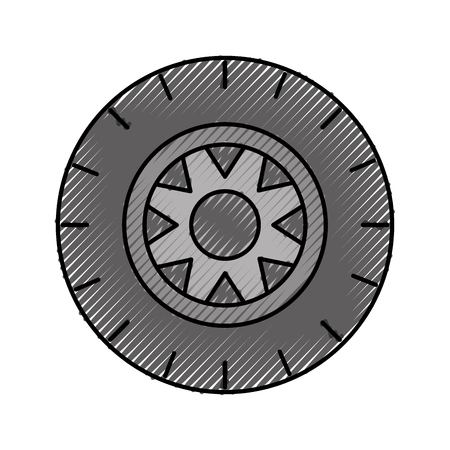 car wheel service concept vehicle maintenance road vector illustration Illusztráció