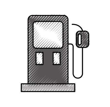 Benzine pomp benzine brandstof apparatuur ontwerp vector illustratie Stockfoto - 86318957