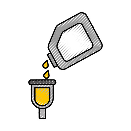bottle of paint for car repair object icon vector illustration