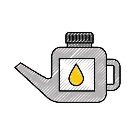 fuel canister gasoline can handle drop vector illustration Illustration