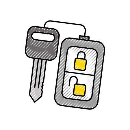 Sicherheit Fernbedienung Schlüssel für Ihr Auto Vektor-Illustration Standard-Bild - 86318962