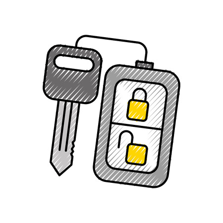 security remote control key for your car vector illustration Illustration