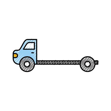 漫画牽引トラック修理輸送支援ベクトルイラスト