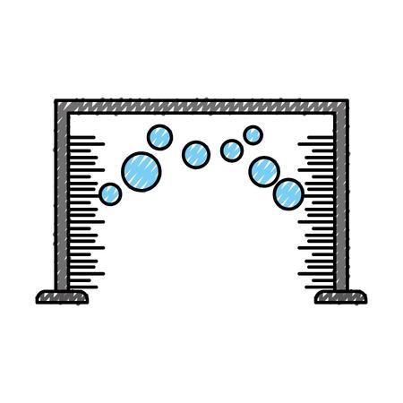automatic wash water shampoo equipment vector illustration Ilustração