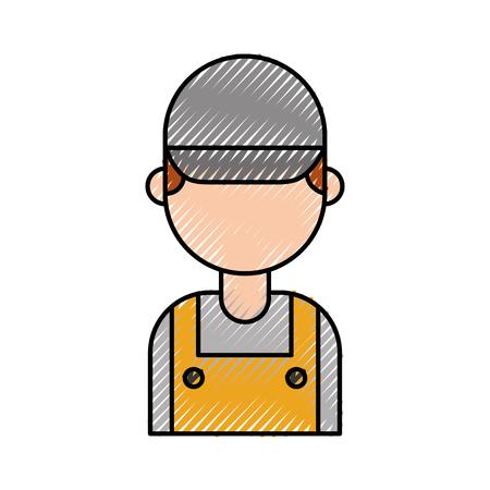 Reparateur ingenieur assistent werker pictogram vector illustratie Stockfoto - 86318974