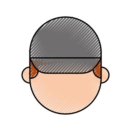 모자 남자 얼굴 만화 복구 문자 작업 벡터 일러스트 레이 션