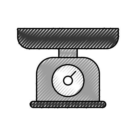 무게 규모 측정 주방 요리 장비 벡터 일러스트 레이션