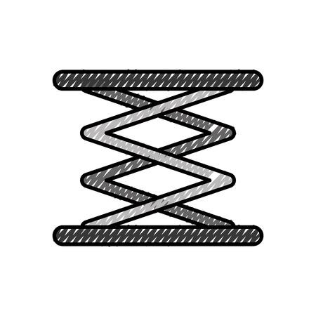 自走式リフト油圧マシンイメージベクトルイラスト  イラスト・ベクター素材