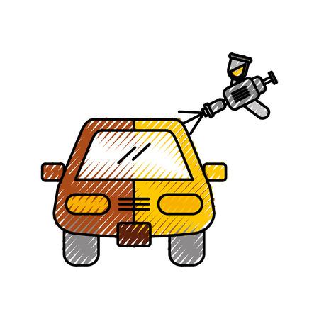 Voiture, peinture, service, à, pistolet, vecteur, Illustration Banque d'images - 86318987
