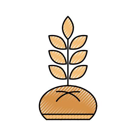 パンと小麦ベーカリーペストリー製品食品新鮮なベクトルイラスト