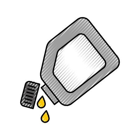 plastic canister oil drops lubrication car vector illustration