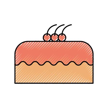 케이크 맛있는 베리 빵집 과자 음식 신선한 벡터 일러스트 레이션 일러스트