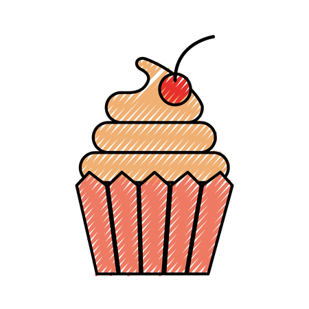 cupcake dessert pastry product food fresh vector illustration