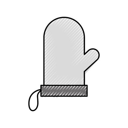 장갑 홀더팟 주방 도구 아이콘 벡터 일러스트 레이션