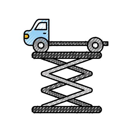 Remorquage camion vue de côté service de maintenance vecteur illustration Banque d'images - 86319008