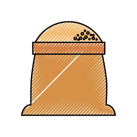 밀가루 곡물 재료 베이커리 아이콘 자루 스톡 콘텐츠 - 86319012
