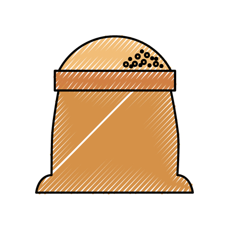 sack of flour grain ingredient bakery icon Stock fotó