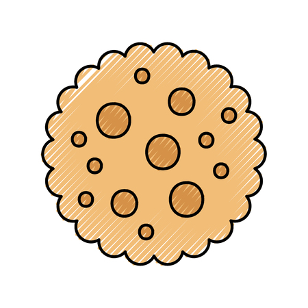 chocolate chip cookie dessert eating icon vector illustration Imagens - 86319017