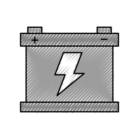 カーバッテリーアキュムレータエネルギーパワーと電気アイコンベクトルイラスト 写真素材 - 86319021