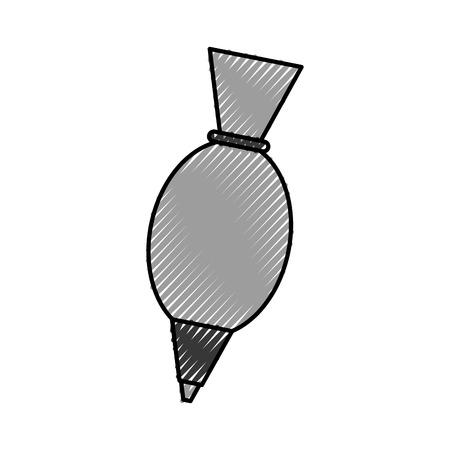 kitchen icing bag utensil handmade icon ilustration