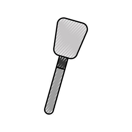 spatula cream decoration cake utensil icon ilustration Illusztráció
