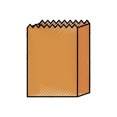 ilustration dell'icona del negozio di pasticceria del forno del pane del sacchetto di carta