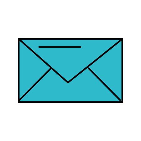 email envelope message communication close vector illustration Stock Vector - 86319040