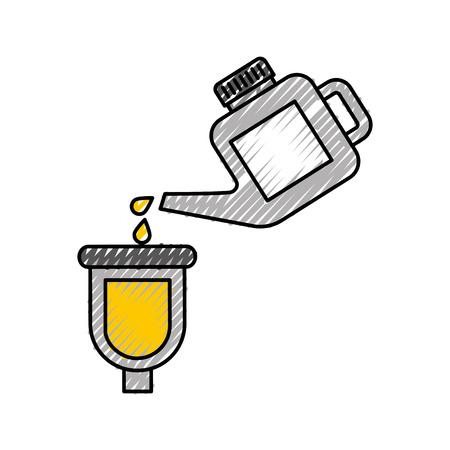 bus gieten verf renovatie onderhoud auto vectorillustratie Stock Illustratie
