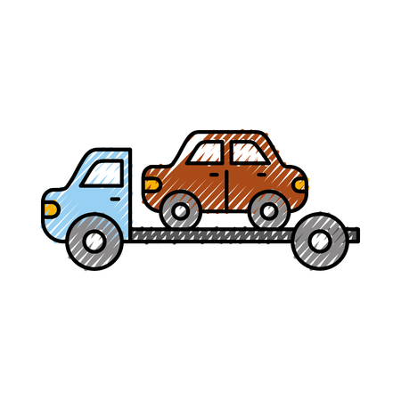 tow truck assistance emergency for car vector illustration Ilustração