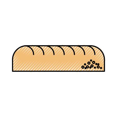 Brot Blatt Bäckerei Gebäck Produkt Symbol frische Darstellung Standard-Bild - 86319051