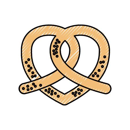 pretzel bakery pastry product food fresh icon ilustration