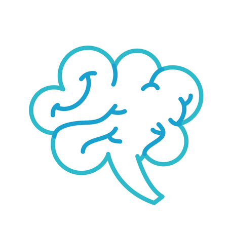 human brain mind or intelligence icon vector illustration