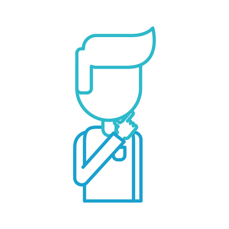business man manager think strategy vector illustration
