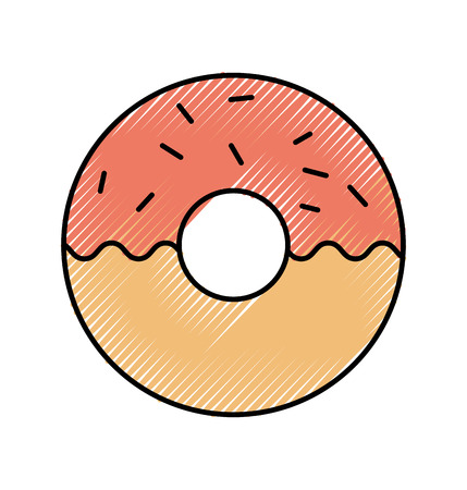 donut dessert pastry product food fresh icon ilustration