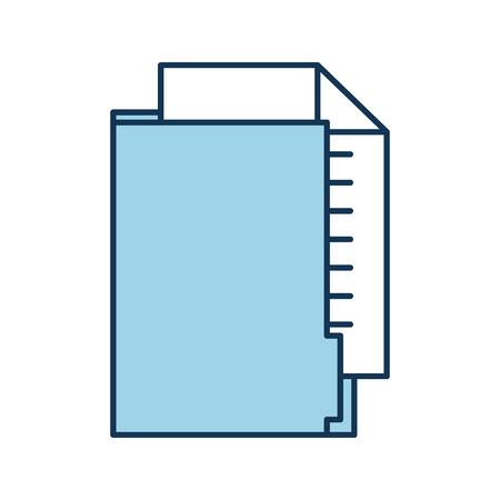 kantoor folder bestand document papier informatie vector illustratie