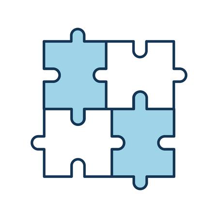 パズルピース 事業進捗成功コンセプトベクトルイラスト  イラスト・ベクター素材