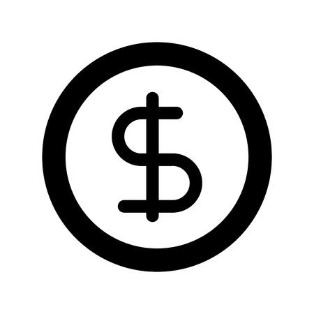 Illustration vectorielle de business pièce argent monnaie bancaire Banque d'images - 86319148