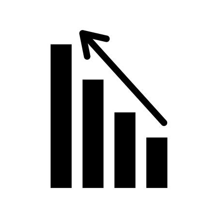 Graphique d & # 39 ; affaires avec flèche financière illustration vectorielle de données Banque d'images - 86319165