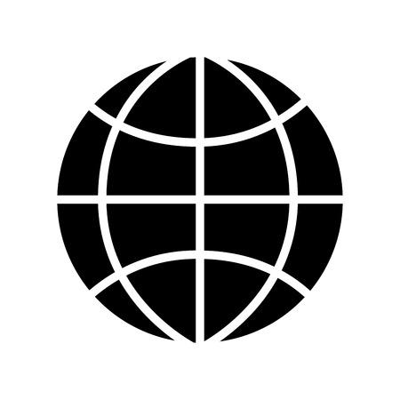 global world connection business work network vector illustration