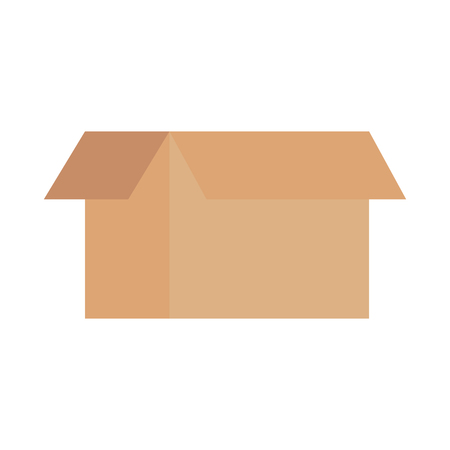 cardboard box delivery business element vector illustration Illusztráció