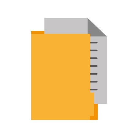 Dossier de bureau dossier document papier information illustration vectorielle Banque d'images - 86319177