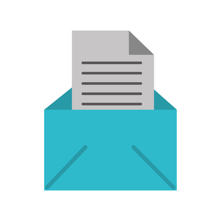 email message letter envelope open icon vector illustration